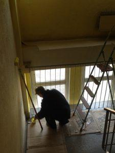 Поточний ремонт коридорів та сходової клітки 1-го поліклінічного відділення  на вул. Медової Печери,1- на суму 47,8 тис.грн. (до ремонту)