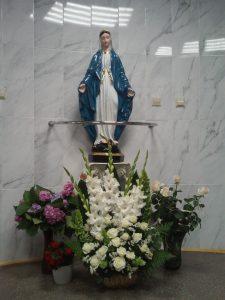 В комунальній 6-ій міській поліклініці м.Львова встановлено фігуру Божої Матері.